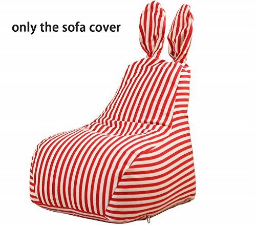 Quwei Bean Bags Chair Cartoon Rabbit DIY Comfortable Mini Sofa Indoor/Outdoor Soft Floor Cushion for Kids (red) by Quwei