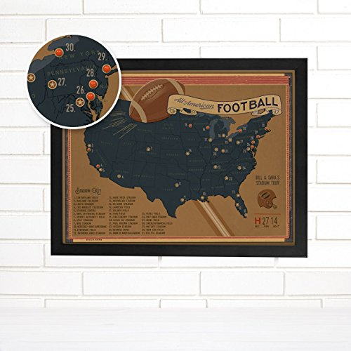 Football adventures personalized usa push pin map art find writing football adventures personalized usa push pin map art by imaginenations by wendy gold gumiabroncs Images