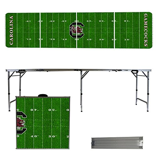 NCAA South Carolina Gamecocks USC Football Field Version 8 Foot Folding Tailgate Table,1234,Multicolored by Victory Tailgate