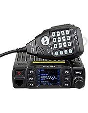 Retevis RT95 Mini Dubbele Band Mobiele Radio 25W 200 Kanalen Amateur Radio DTMF 5Tone Walkie Talkie Car Transceiver met Programmeerkabel ( Zwart )