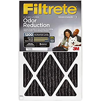 Filtrete Allergen Defense Odor Reduction AC Furnace Air Filter, Guaranteed Airflow up to 90 days, Delivers Cleaner Air Throughout Your Home, MPR 1200, 16 x 25 x 1, 4-Pack