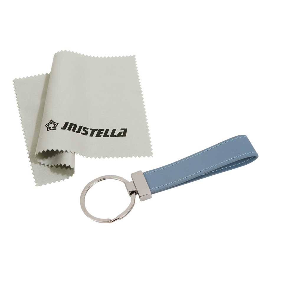 Jnjstella Genuine Leather Key Fob Chain Ring Keychains Sky Blue