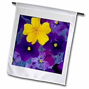 Danita Delimont - Flowers - Floating flower design, Sammamish Washington - US48 DGU0145 - Darrell Gulin - 12 x 18 inch Garden Flag (fl_95351_1)