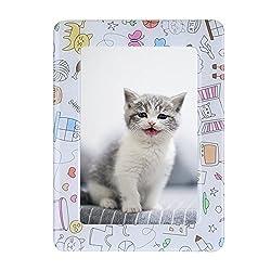 LtrottedJ Colorful Photo Frames,11.816cm Magnetic Picture Frames Photoframe ,Beautiful Memories Desk Display (L)