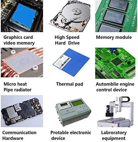 100pcs 10x10x1mm GPU CPU Graphic Chip Heatsink Thermal Conductive Silicone Pad