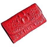 CROCUST Luxury Crocodile Leather Women's Wallet Crocodile Skin Clutch Wallet Handmade Holder Purse