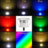 Low Voltage 6pcs Multi-Color RGB LED Deck Lights