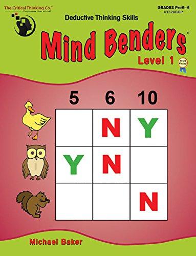 The Critical Thinking Mind Benders Book 1 (Grades PreK-K)