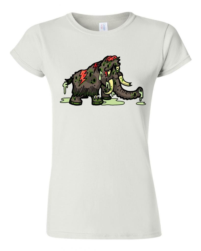 Zombie Woolly Mammoth Undead Animals Dt Novelty T Shirt Tee 4742