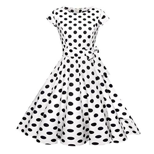 Kleid Damen Sommer Bekleidung Damen Kleider WINWINTOM 50s Retro Schwingen  Vintage Rockabilly kleid Faltenrock 2ee1948008
