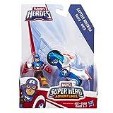 Playskool Heroes Marvel Super Hero Adventures Captain America Figure with Shield Racer Vehicle