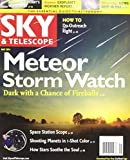 SKY & Telescope 2014 May - Meteor Storm Watch. Dark with a Glance of Fireball.