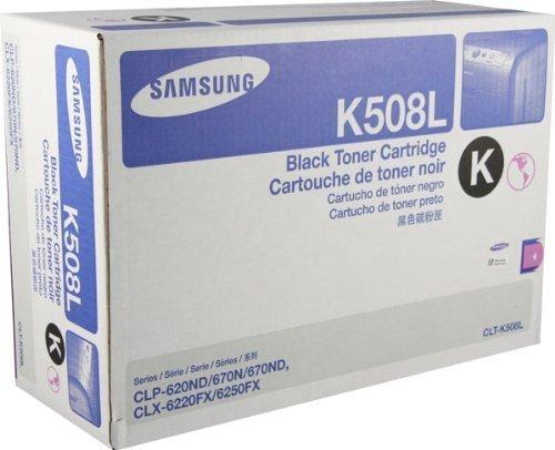 Genuine Samsung CLT-K508L High Yield Black Toner Cartridge