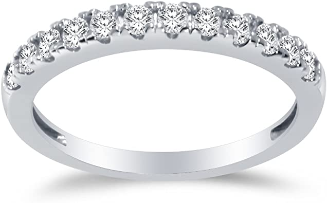 925 Sterling Silver Cubic Zirconia Womens Eternity Ring Sizes J to Z
