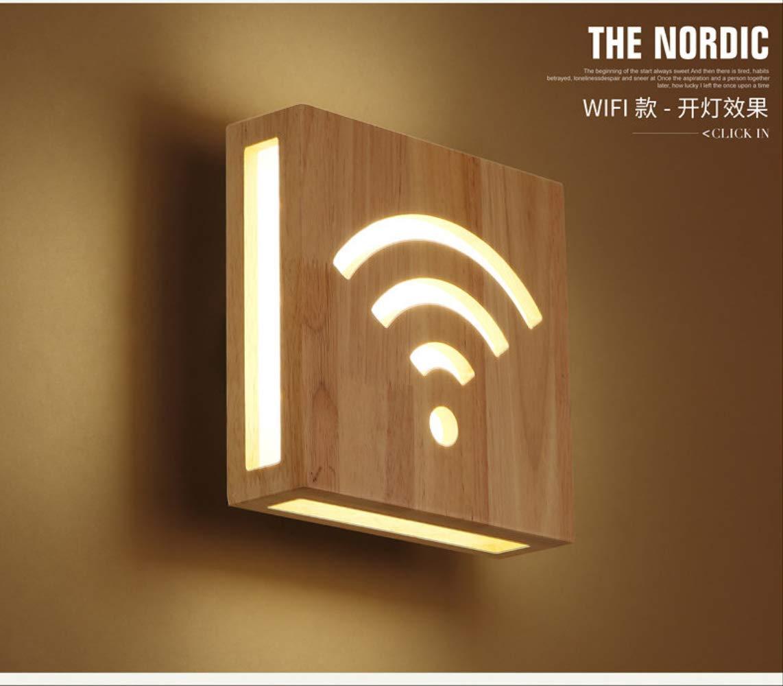 Wandlampen Nordic Gang Dekoration Led Wandleuchten Japanische Massivholzlampen Hirsch Wei/ßes Licht Kreative Schlafzimmer Nachtlicht