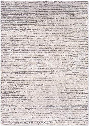 Sandie Taupe, Medium Gray and Khaki Modern Area Rug 6'7