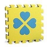 Jim Hugh 4 Pcs/Set Children EVA Foam Mat Four Leaf Clover Puzzle Mats Family Mattress Kindergarten Flooring Play Mat Tiles 30x30cm