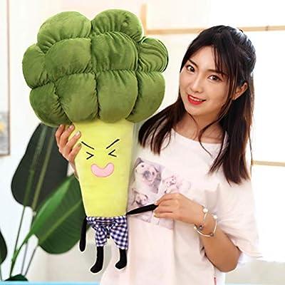 HUIHE Soft Lumbar Pillow,Creative Vegetables Broccoli Plush Toys,Kids Gift Home Decoration Pillow: Home & Kitchen