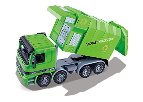 garbage truck with side loader - 9
