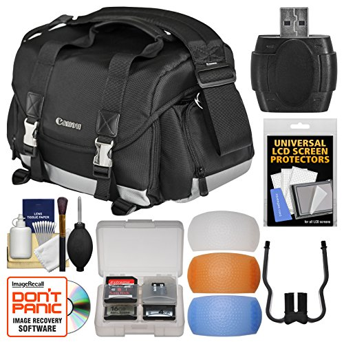 Canon 200DG Digital SLR Camera Case - Gadget Bag with Flash Filters + Cleaning Kit by Canon
