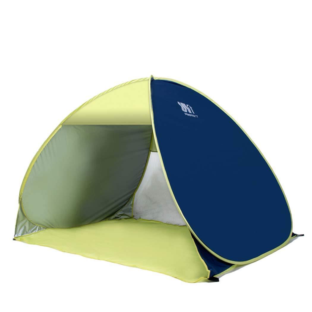 MISS&YG Outdoor-automatisches Pop-up-Strandzelt, 3-4 Personen Sonnenschirmbad mit Handtasche für Camping Angeln Picknick-Wandertour
