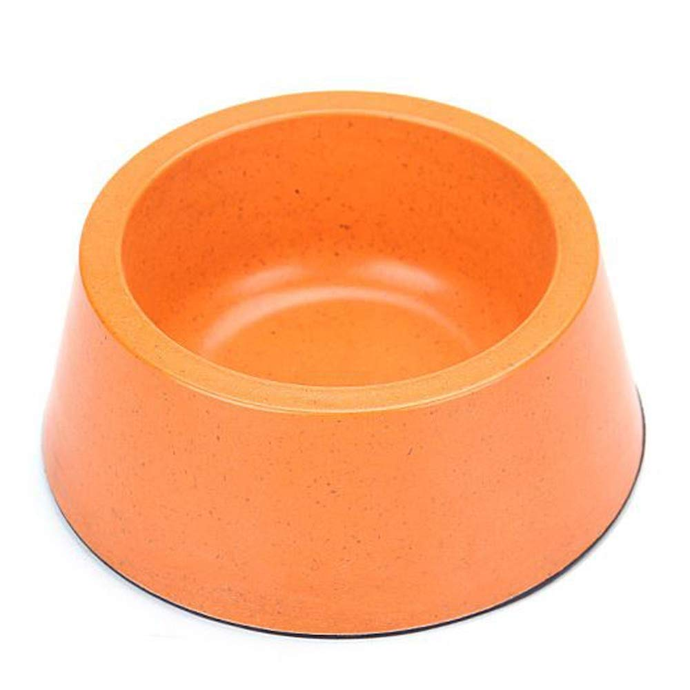orange Pet Supplies Dog Food Cat Food Bowl Food Bowl Single Bowl Pet Lunch Box, Suitable for Animal Tableware Within 15 Kg Multi-color Optional (color   orange)
