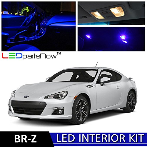 7 Subaru BR-Z BRZ LED Interior Lights Accessories Replacement Package Kit (6 Pieces), BLUE ()