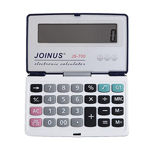S&M TREADE-Large Desk Top Calculator for Student Office Dual Power Solar Battery with Cover
