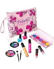 Playkidz- Set de Maquillaje cosmético y Real Lavable, Estuche Diseño Floral (3032)