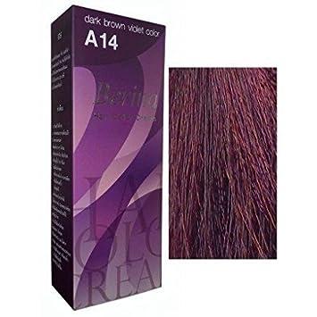 Berina Permanent Hair Dye Color Cream No. A14 Dark Brown ...