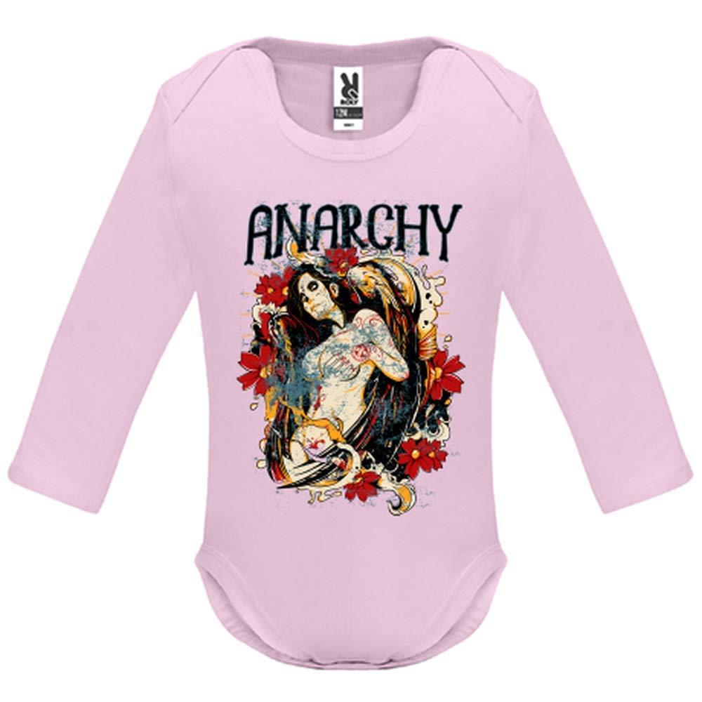 Body bébé - Manche Longue - Anarchy Angel - Bébé Fille - Rose - 12MOIS