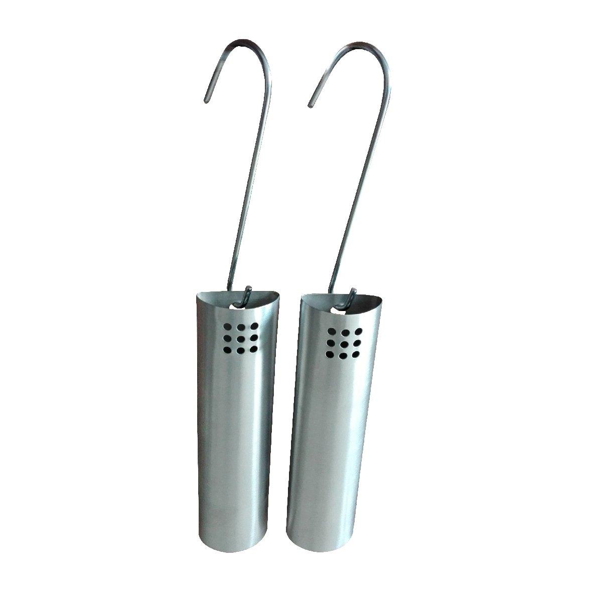 格安新品  2つの掛かるラジエーターの加湿器 20、2つの掛かるホック、乾燥した空気水湿気制御を含む、ラジエーターのためのブラシをかけられたステンレス鋼水蒸発器のKamino-Flamセット、およそ。 5 x x 2.8 2.8 x 20 cm、シルバー B01NAWP84K, 海心:7f067245 --- arianechie.dominiotemporario.com