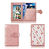 Cmeka Cell Phone Wallet,Credit Card Holder for Back of Phone Pocket 3M Adhesive Sticker Card Pouch Sleeve for iPhone/Samsung Galaxy/Sony/Android and Most Smartphones (Rose Glod-Mandala)
