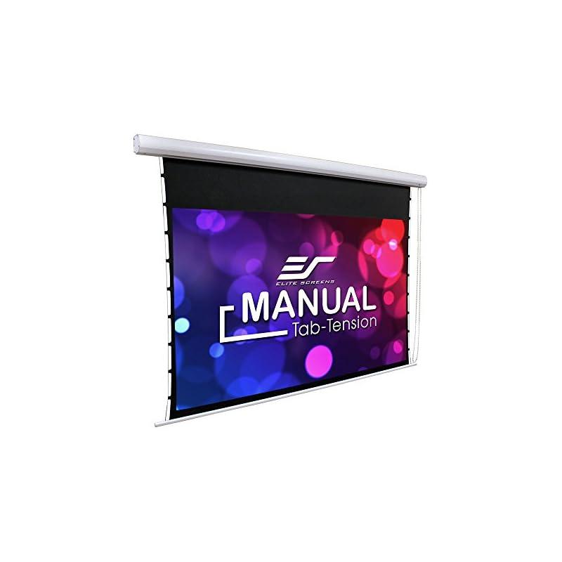 Elite Screens Manual Tab-Tension, 100-IN