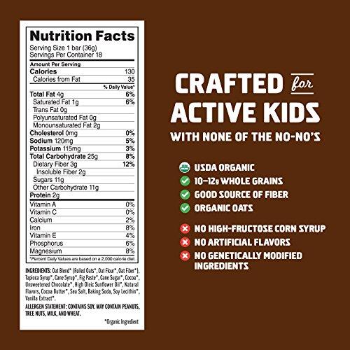 CLIF KID ZBAR - Organic Energy Bar - Chocolate Brownie - (1.27 Ounce Snack Bar, 18 Count) by Zbar (Image #5)