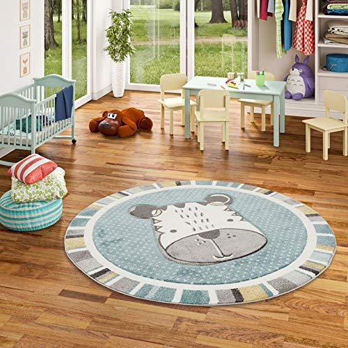 Maui Kids 3 tama/ños Menta Alfombra Infantil Redonda Motivo de Perro