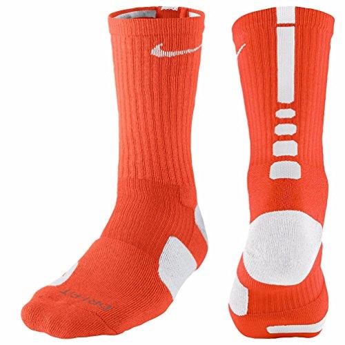 Nike Calzini da basket Unisex adulto Elite nero - arancione
