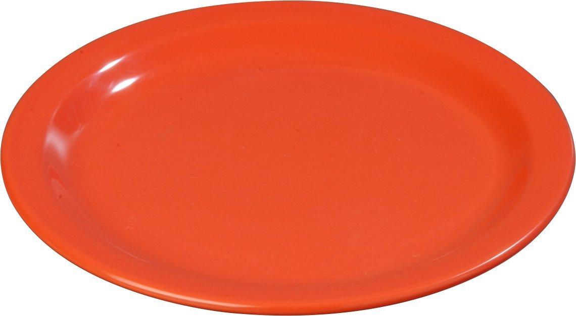 Carlisle 4350152 Dallas Ware Melamine Dinner Plate, 9'' Dia. x 51/64'' H, Sunset Orange (Case of 48)