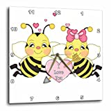 3dRose Cute I Love You Valentine Bumble Bee Couple Cartoon – Wall Clock, 10 by 10-Inch (dpp_102471_1) Review