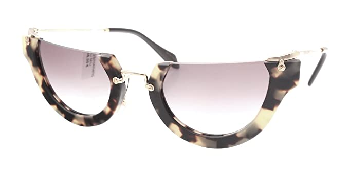 f0def0647fa8 Image Unavailable. Image not available for. Color  Miu Miu MU11QS HAN4N2  Tortoise MU11QS Cats Eyes Sunglasses Lens Category 2 Size