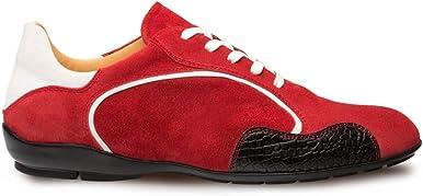 Mezlan Coronado Zapatillas de vestir de doble tono - Zapatillas italianas de piel de becerro para hombre de ante - Hecho a mano en España - Ancho medio
