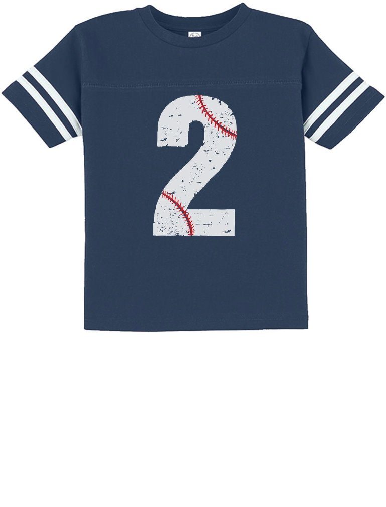 TeeStars – Baseball 2nd Birthday Gift for Two Year Old Toddler Jersey T-Shirt
