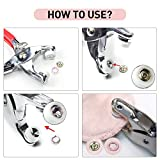 CHEPULA 200 Sets 9.5mm Metal Snaps Buttons with