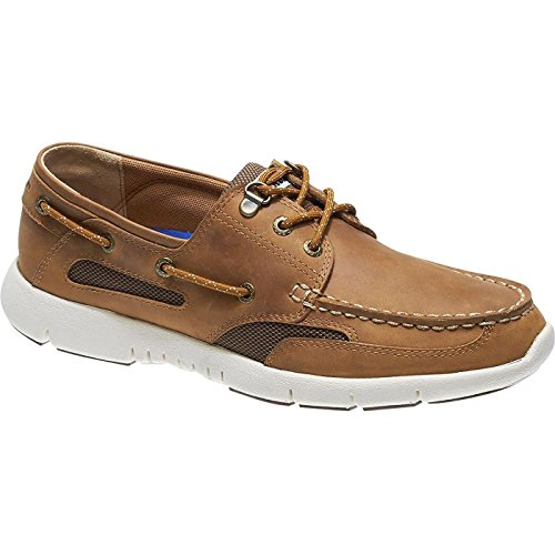 Sebago Men's Clovehitch Lite FGL Boat Shoes Brown Tan Waxed Leather fT50T