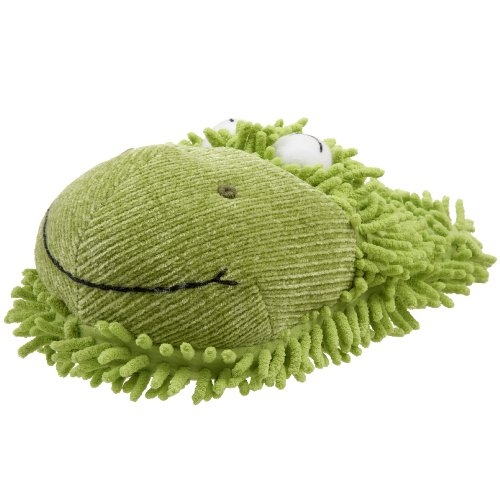 Fuzzy Friends Women's Frog Slipper,Green,One Size Adult Anniversary Frog