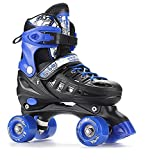 Kid Quad Roller Skates adjustable ABEC -7 , L , blue