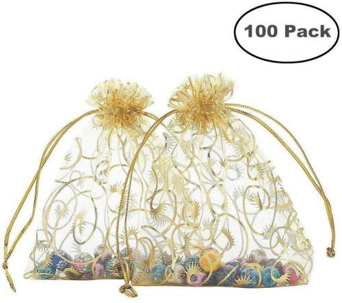 (Foxnovo Organza Drawstring Gift Bags)