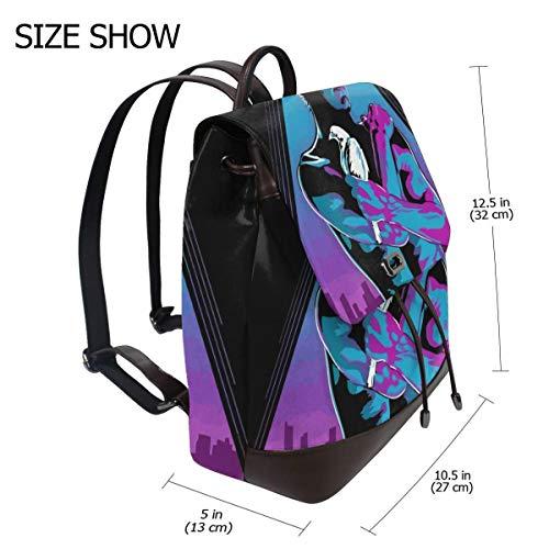 Like Tears In Rain Blade Runner Fashion Design Leather Backpack For Women Men College School Bookbag Weekend Travel Daypack