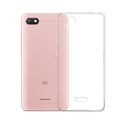 IJIA Case Funda para Xiaomi Redmi 6A, Transparente TPU Silicona Suave Cover Tapa Caso Parachoques Carcasa Cubierta para Xiaomi Redmi 6A (5.45