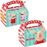 Olivia Empty Favor Boxes (4 count) Party Accessory, Health Care Stuffs